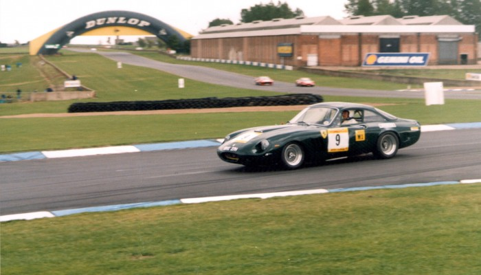 Mike McQuaker in his Lusso / LMB at Donington