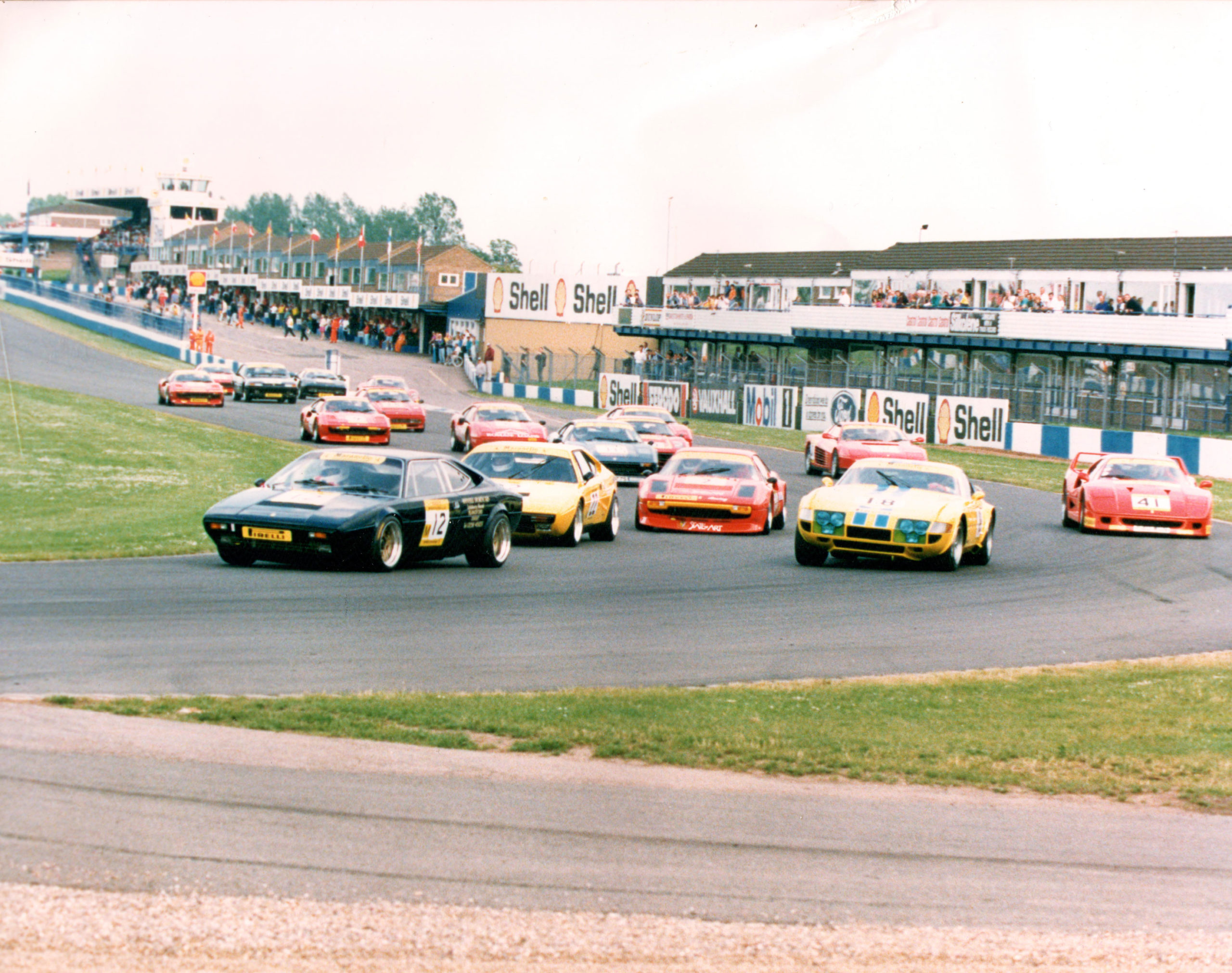 GT4s seem to be the leading Tipo during this late 80s race at Donington