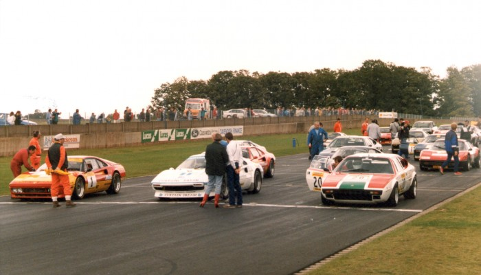 On the grid at Donington